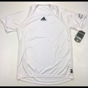 Adidas men's white soccer jersey
